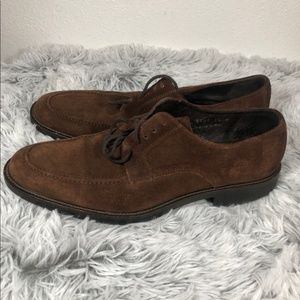 BARNEYS NEW YORK BROWN SUEDE OXFORD SHOES SIZE 11